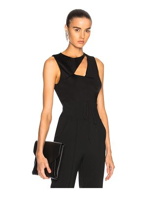 Cushnie et Ochs Sleeveless Cowl Neck Bodysuit
