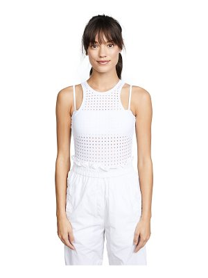 Cushnie et Ochs violette perforated bodysuit