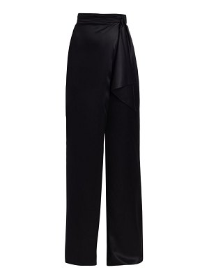 Cushnie high-waist silk wide leg pants