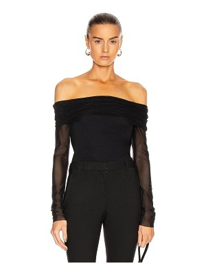 Cushnie off the shoulder fitted top