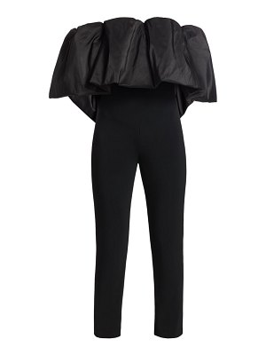 Cushnie off-the-shoulder popover cropped jumpsuit