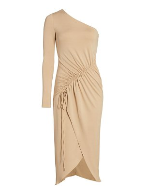 Cushnie one-shoulder drawstring detail asymmetrical pencil dress