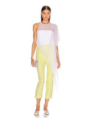 Cushnie one shoulder sheer asymmetrical top