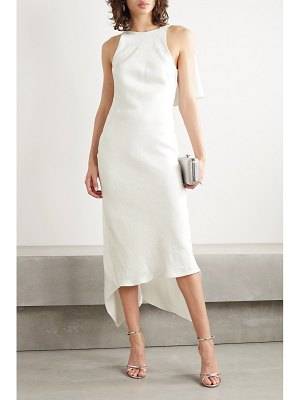 Cushnie satin-jacquard midi dress