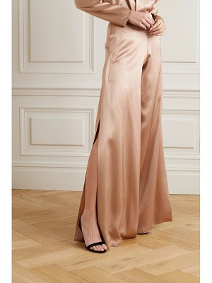 Cushnie silk-charmeuse wide-leg pants