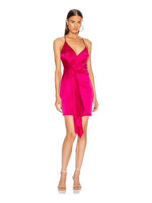Cushnie sleeveless halter neck plunging mini dress