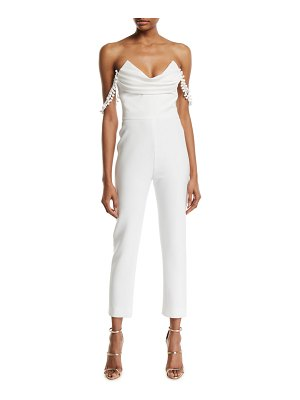 Cushnie Strapless Cropped Jumpsuit