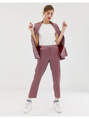 Custom Made custommade adia pants in stripe-red