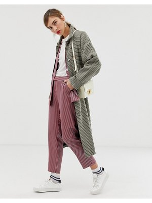 Custom Made custommade tessa checked trench coat-beige