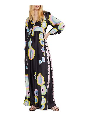 Cynthia Rowley Dary Graphic Print Long-Sleeve Maxi Dress