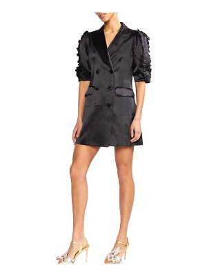 Cynthia Rowley Paz Double-Breasted Mini Blazer Dress