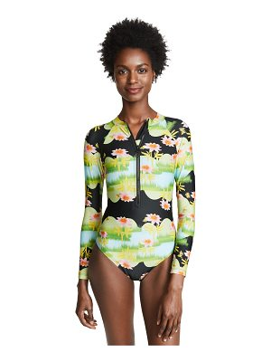 Cynthia Rowley print zip front surfsuit