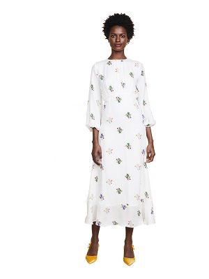 Cynthia Rowley sea breeze printed bell sleeve dress