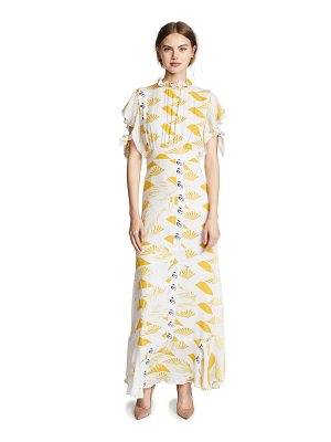 Cynthia Rowley talia printed silk dress