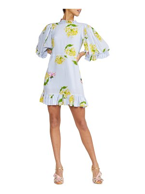 Cynthia Rowley Tayla Floral-Print Mini Ruffle Dress