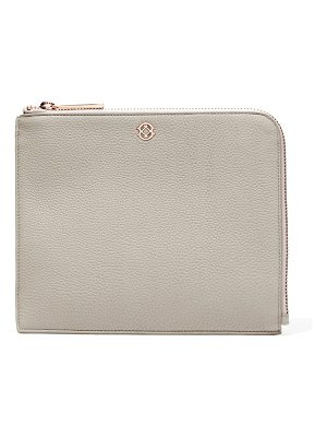DAGNE DOVER large elle leather clutch