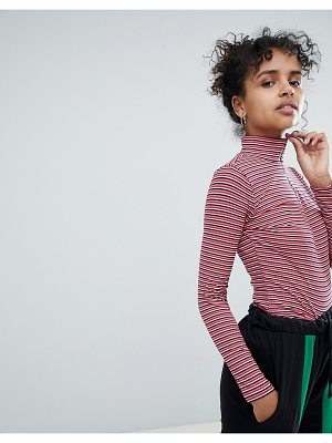 Daisy Street long sleeve top with zip neck