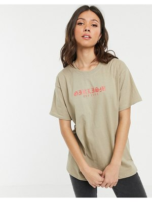 Daisy Street oversized t-shirt with girlism print-white
