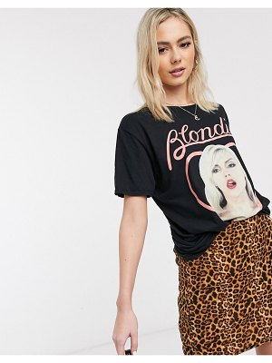 Daisy Street relaxed t-shirt with blondie print-black