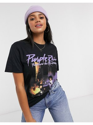 Daisy Street relaxed t-shirt with prince print-black