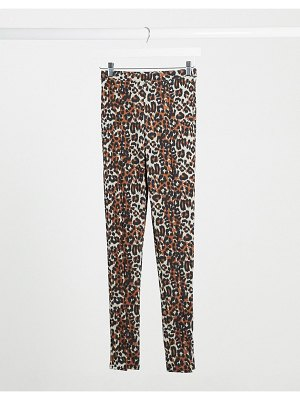 Daisy Street vented leggings in leopard print-brown