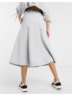 Damson Madder organic cotton extreme a line skirt two-piece-gray