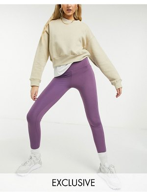 Damson Madder workout leggings in recycled fabric-purple