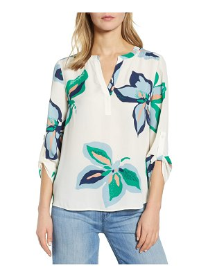 Daniel Rainn button tab sleeve blouse