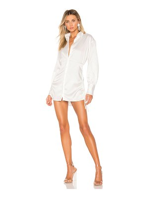 DANIELLE GUIZIO Ruched Shirt Dress