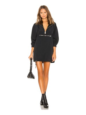 DANIELLE GUIZIO Windbreaker Hoodie Dress