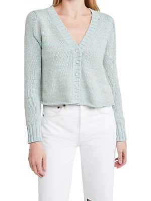 DANNIJO cropped cardigan with pearlescent buttons