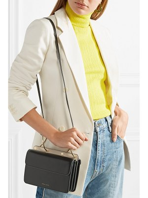 DANSE LENTE mia smooth and textured-leather shoulder bag