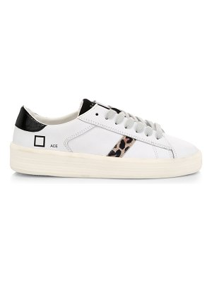 D.A.T.E. ace animalier leather sneakers
