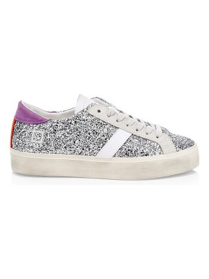 D.A.T.E. hill double glitter low-top sneakers