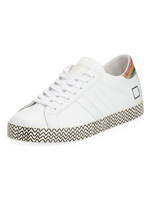 D.A.T.E. Hill Leather Low-Top Sneakers