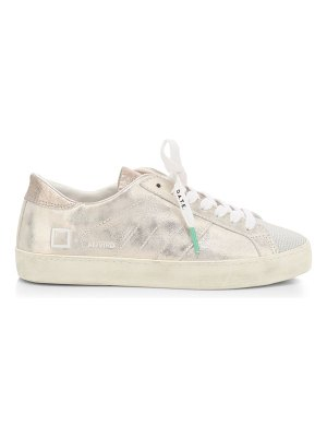 D.A.T.E. hill low stardust leather sneakers