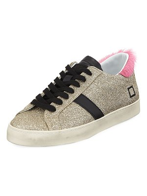 D.A.T.E. Hill Low-Top Glitter Sneakers