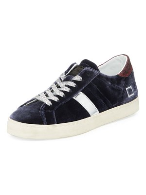 D.A.T.E. Hill Low Velvet Platform Sneakers