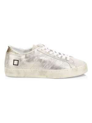 D.A.T.E. hill metallic leather low-top sneakers