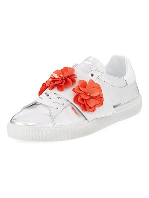 D.A.T.E. Newman Flower-Strap Sneakers