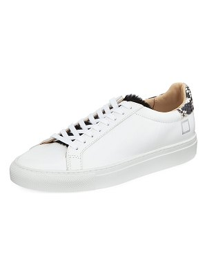 D.A.T.E. Newman Leather Platform Sneakers
