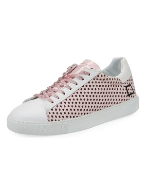 D.A.T.E. Newman Perforated Leather Sneakers