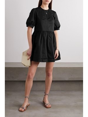 Daughter &esther stretch-organic cotton twill mini dress