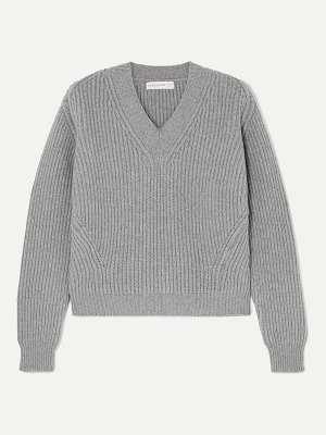 Daughter &inver ribbed wool and cashmere-blend sweater