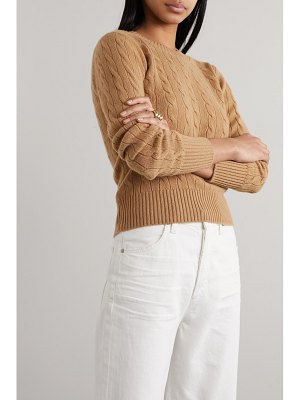 Daughter &net sustain nora cable-knit cashmere sweater