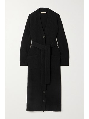 Daughter &+ net sustain ronnie belted wool cardigan