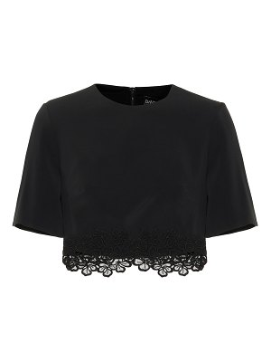 David Koma Cady and macramé crop top