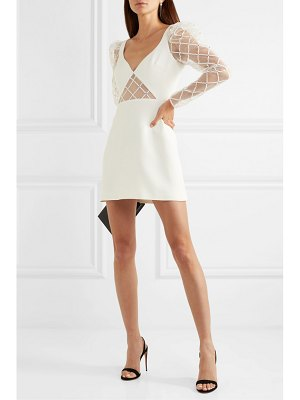 David Koma crystal-embellished tulle and cady mini dress