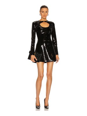 David Koma detachable sleeve sequin dress