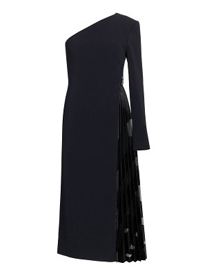 David Koma devore pleats one-shoulder cocktail dress